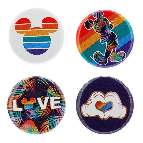 Rainbow Mickey shopDisney Button Set