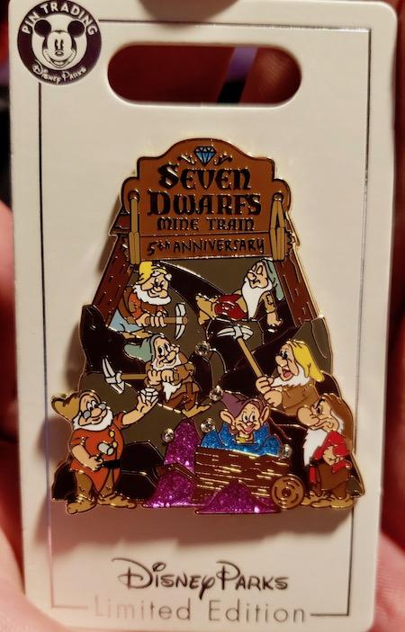 Seven Dwarfs Mine Train 5th Anniversary Cast Member Pin