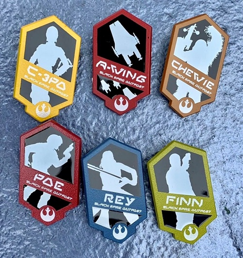 Silhouette Galaxy's Edge Mystery Pin Set