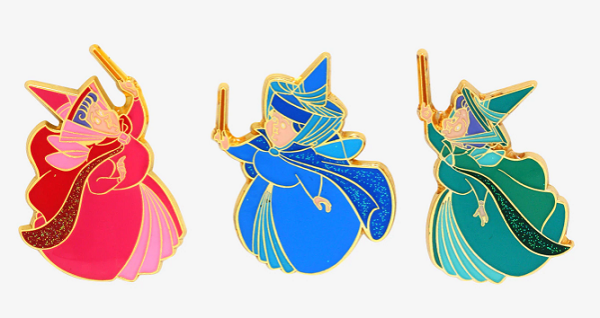 Sleeping Beauty Fairy Godmothers  BoxLunch Disney Pins