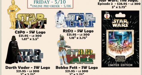 Star Wars Character Logos & Episode 2 Disney Employee Center Pins