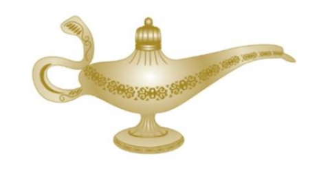 Surprise Genie Lamp Pin