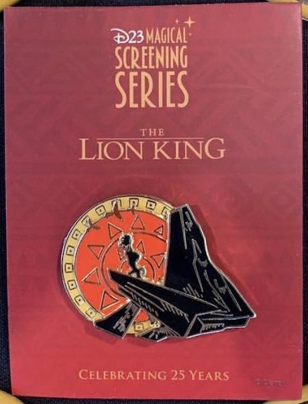The Lion King Magical Screenings Disney D23 Pin