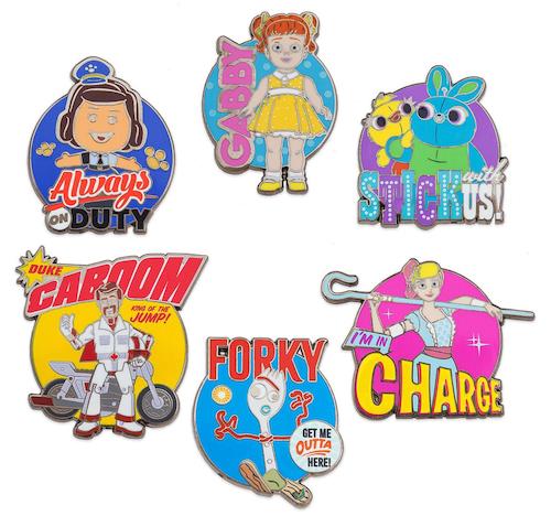 Toy Story 4 Disney Store 2019 Pin Set