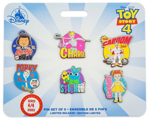 Toy Story Disney Store 2019 Pin Set Series #4