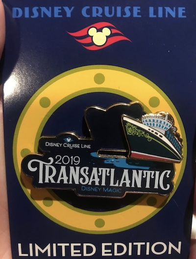 Transatlantic 2019 Disney Cruise Line Pin