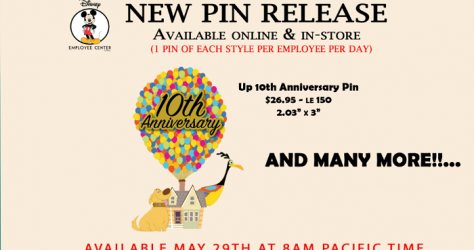 UP 10th Anniversary Disney Employee Center Pin