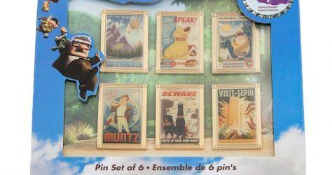 Up 10th Anniversary Disney Store Pin Set