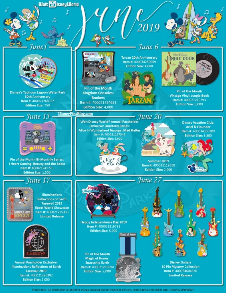 Walt Disney World June 2019 Pin Preview