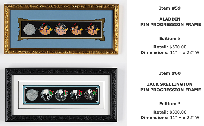 Aladdin & Jack Skellington Progression WDI Pin Sets – D23 Expo 2019