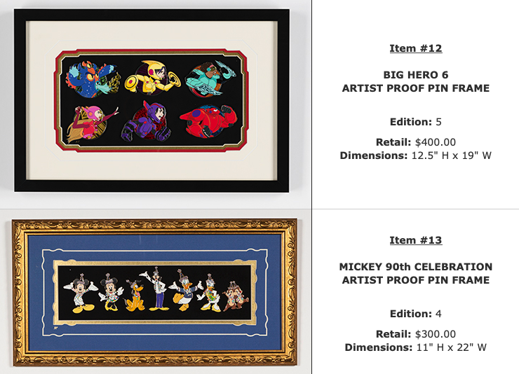 Big Hero 6 & Mickey 90th WDI Pins Set - D23 Expo 2019