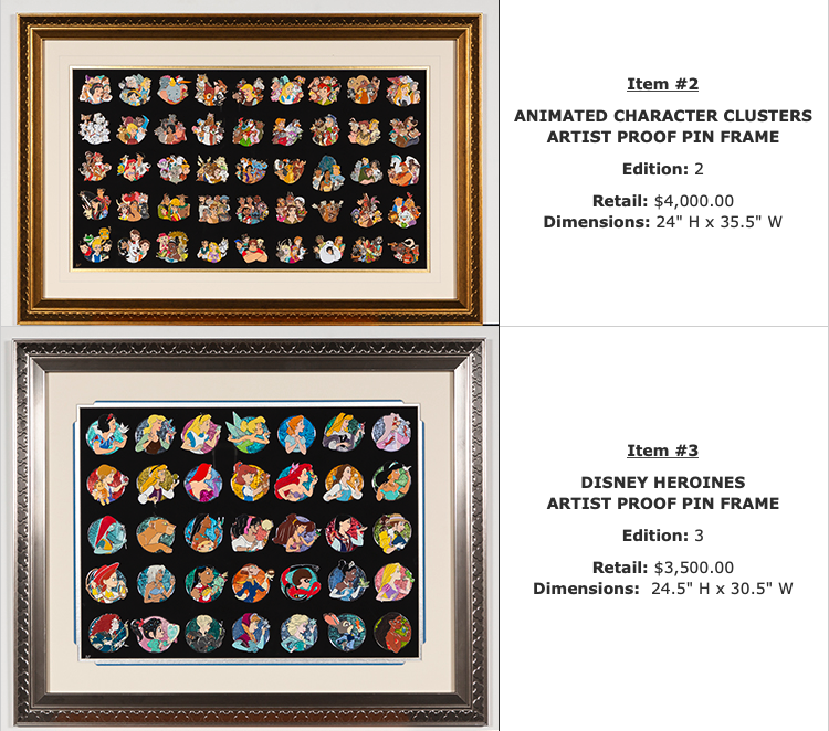 Character Clusters & Heroines - WDI Pins Set - D23 Expo 2019