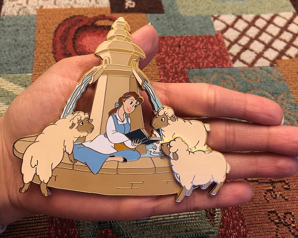 Closer Look Belle Jumbo Disney Store UK Pin