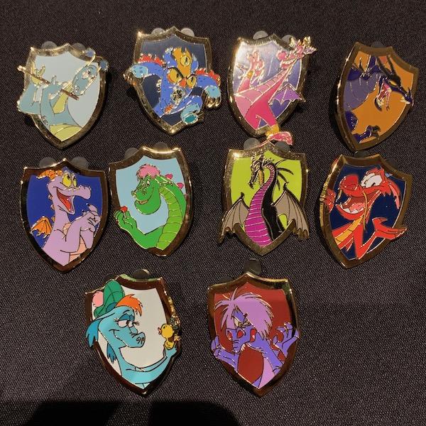 Disney Dragons Medieval Magic Mystery Pin Set