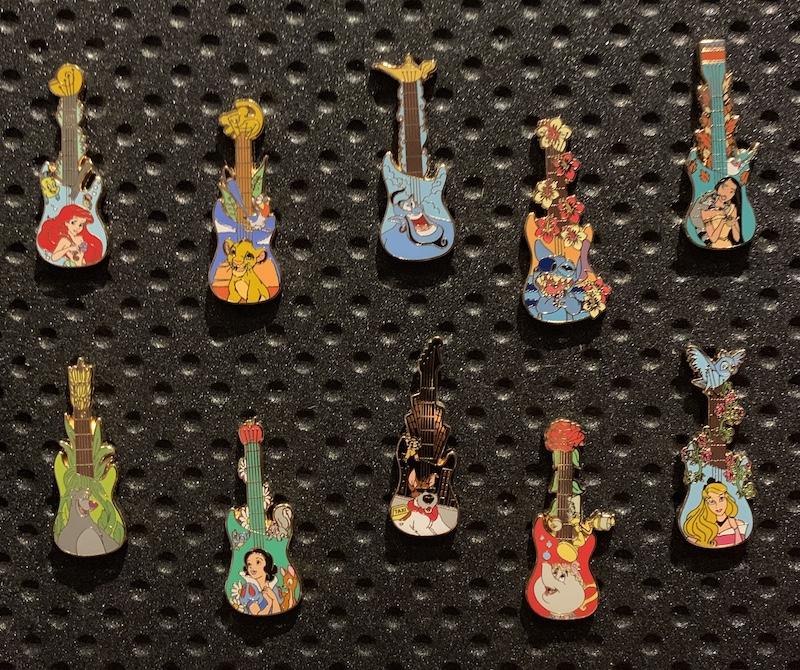 Disney Guitars Mystery Pins