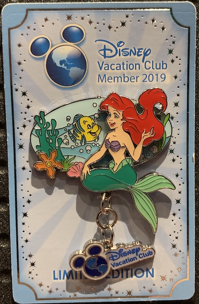Disney Vacation Club – Ariel & Flounder 2019 Pin