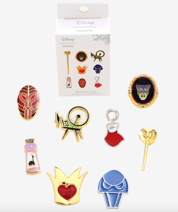 Disney Villains BoxLunch Mystery Pin Collection