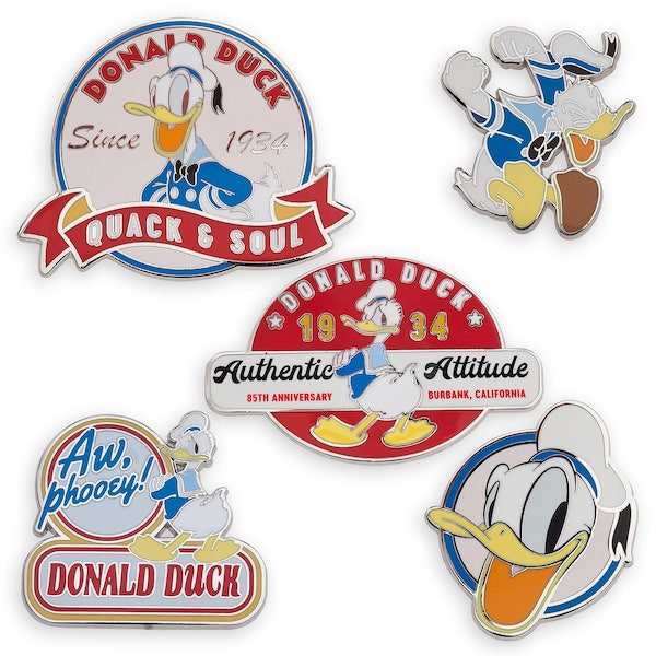 Donald Duck 85 Years Pin Set Pins