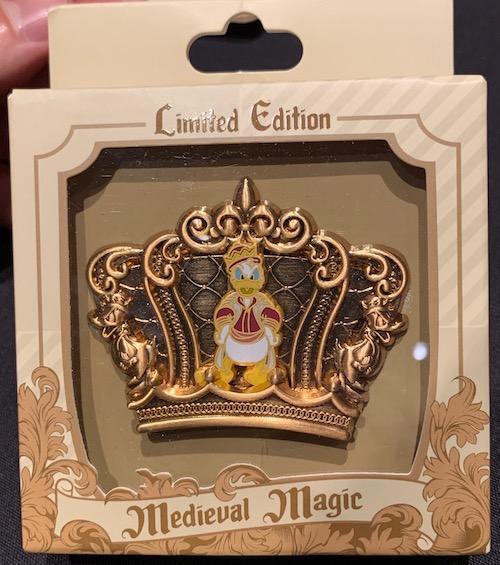 Donald Duck Crown Medieval Magic Pin