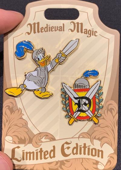 Donald Duck Medieval Magic Pin Set