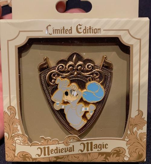 Goofy Crest Medieval Magic Pin