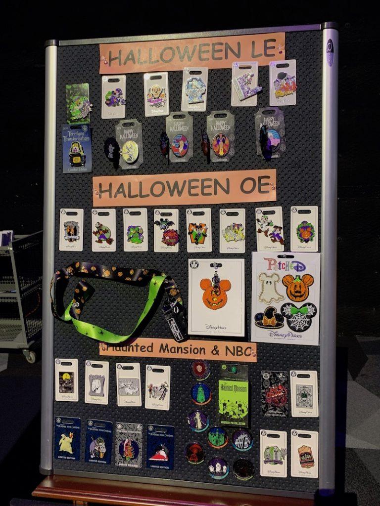 Halloween 2019 Disney Pin Preview Board