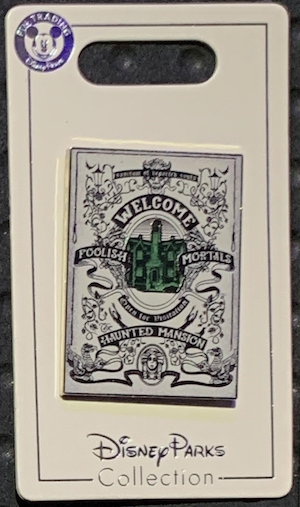 Haunted Mansion Welcome Poster Pin