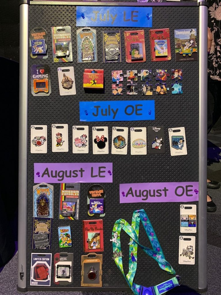 July/August 2019 Disney Pin Preview Board