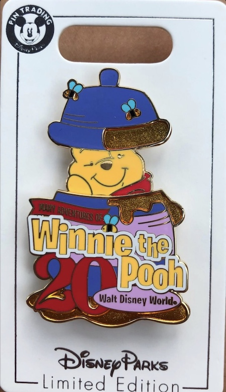 Many Adventure of Winnie the Pooh 20th Anniversary Cast Member Pin