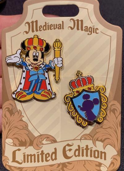Mickey Medieval Magic Pin Set