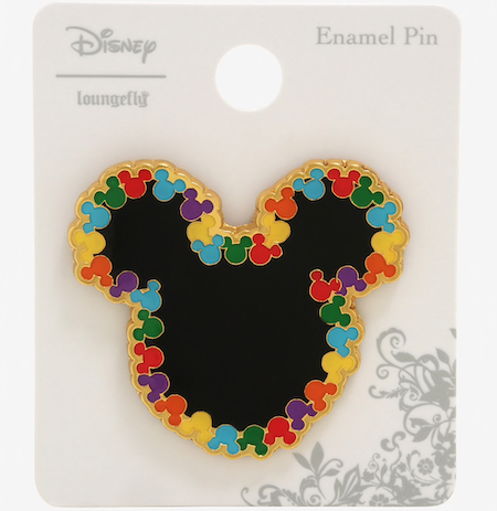 Mickey Mouse Rainbow Heads BoxLunch Disney Pin