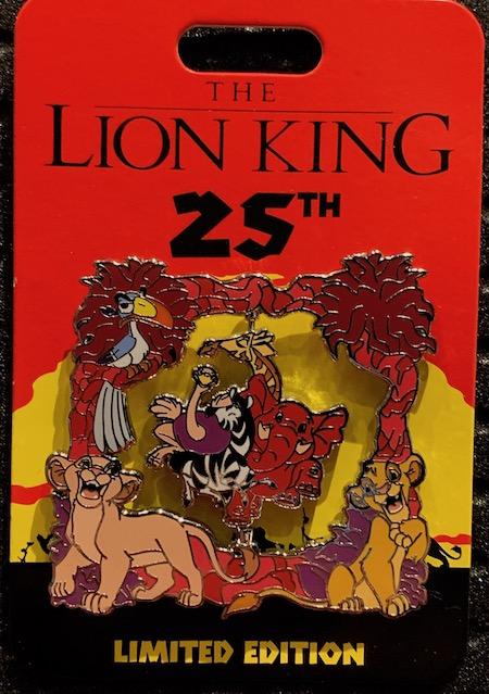 Mighty King Lion King 25th Anniversary Mini Jumbo Pin