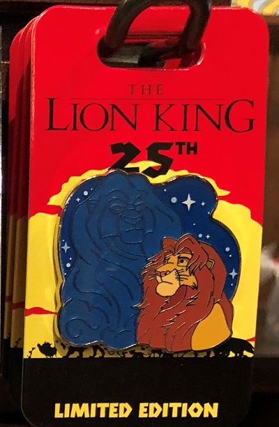Mufasa & Simba Lion King 25th Anniversary Pin