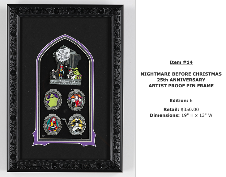 Nightmare Before Christmas WDI Pin Set - D23 Expo 2019