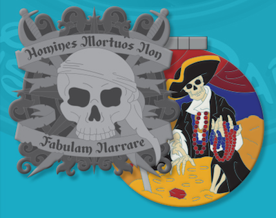 Pirates of the Caribbean Crests of the Kingdom Pin