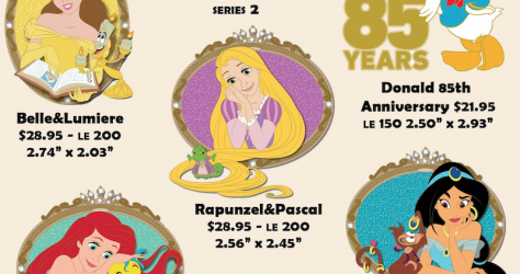 Princess and Friends Series 2 Disney Employee Center Pins