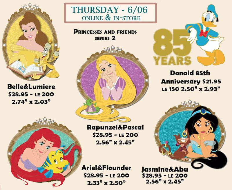 Princess and Friends Series 2 Disney Employee Center Pins