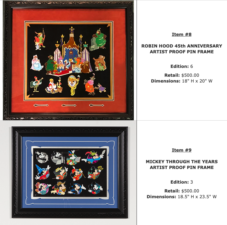 Robin Hood 45th & Mickey WDI Pins Set - D23 Expo 2019