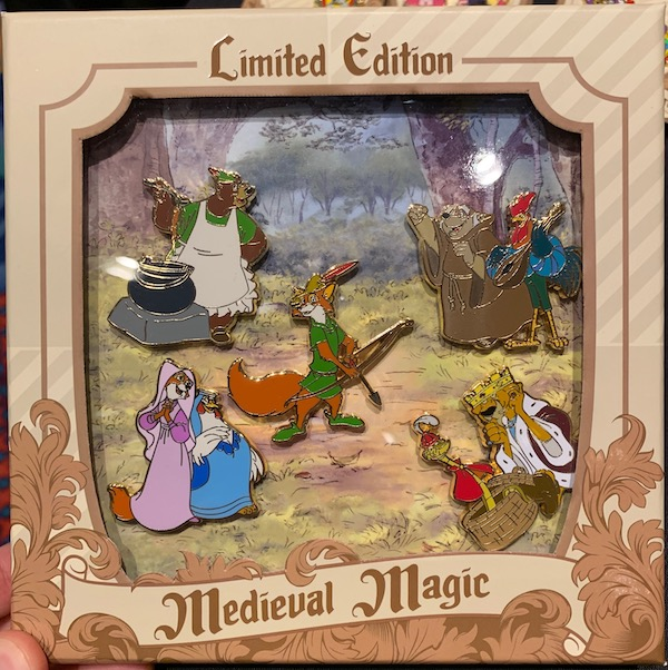 Robin Hood Medieval Magic Pin Set