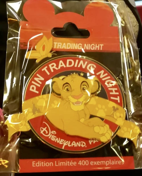 Simba Disneyland Paris Pin Trading Night Jumbo Pin