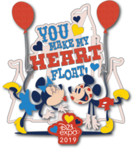 The Balloon Collection Mickey and Minnie Pin