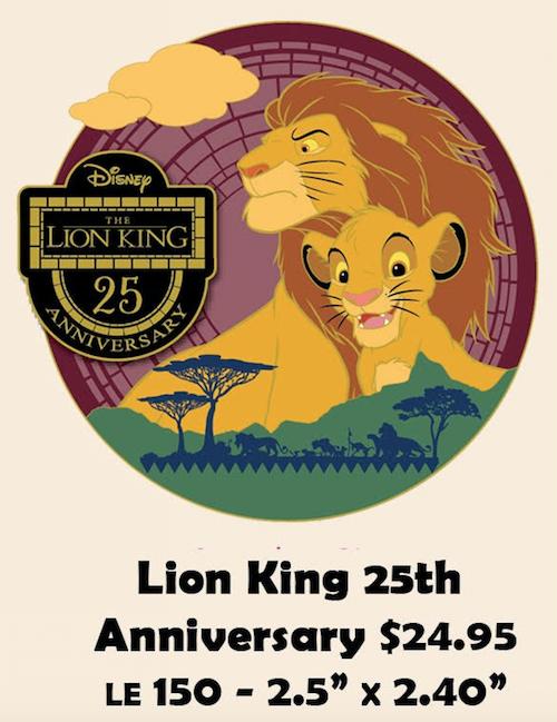 The Lion King 25th Anniversary Disney Employee Center Pin