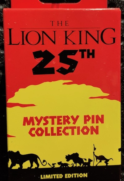 The Lion King 25th Anniversary Mystery Pin Collection
