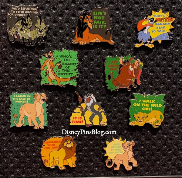The Lion King 25th Anniversary Mystery Pins
