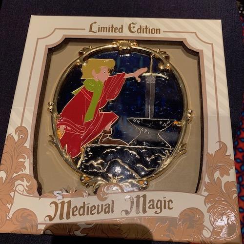 The Sword in the Stone Medieval Magic Jumbo Pin