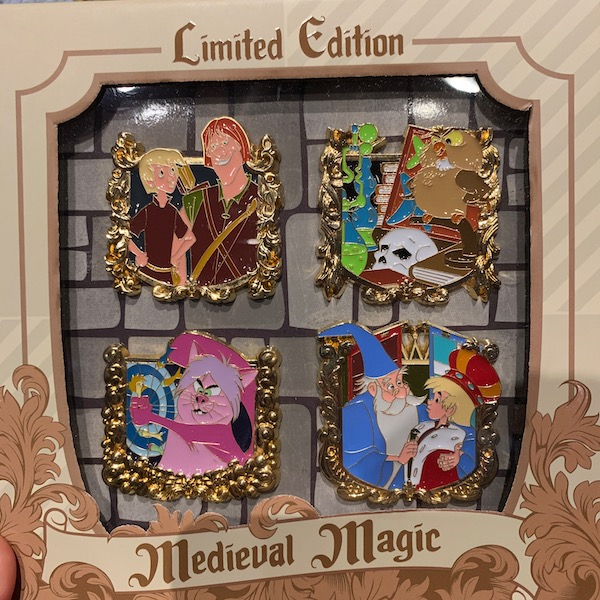 The Sword in the Stone Medieval Magic Pin Set
