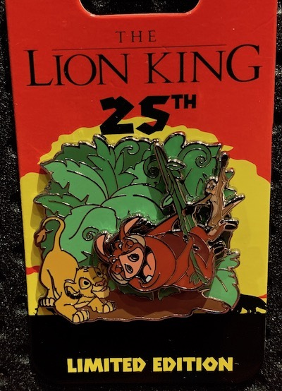 Timon & Pumbaa Lion King 25th Anniversary Pin