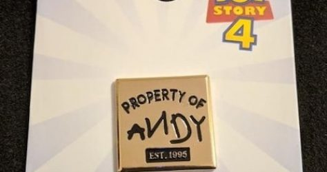 Toy Story 4 Andy Primark Disney Pin