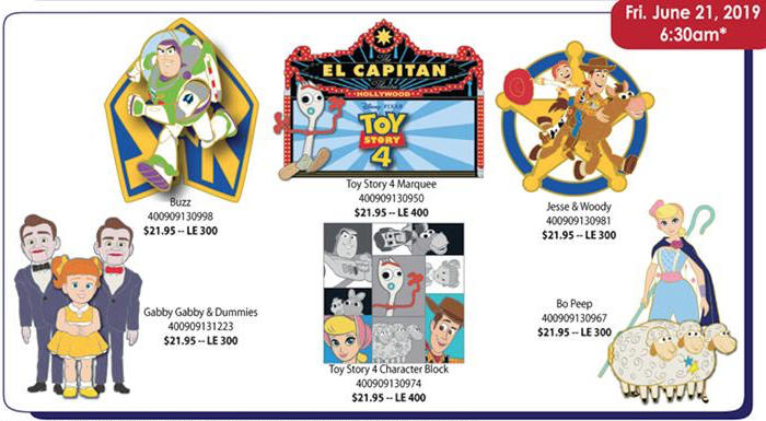 Toy Story 4 DSSH Pins