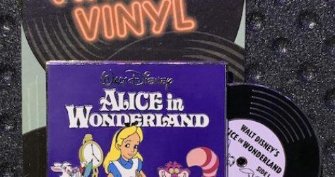 Alice in Wonderland Vintage Vinyl Pin